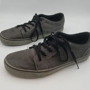 Vans Men's Gray Canvas Sneakers Shoes size 9
